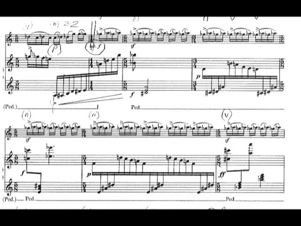 Witold Lutoslawski - Grave for 'Cello and Piano (1981) [Score-Video]