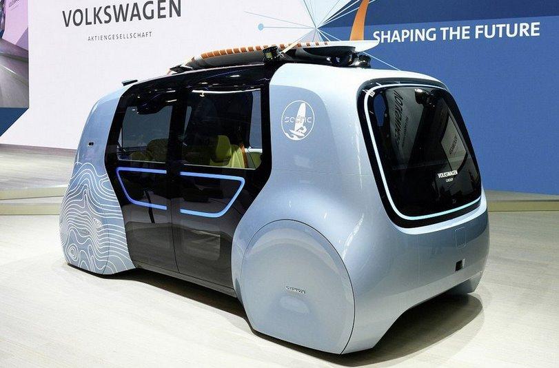 Volkswagen представил беспилотный электроминивэн Sedric Active».
