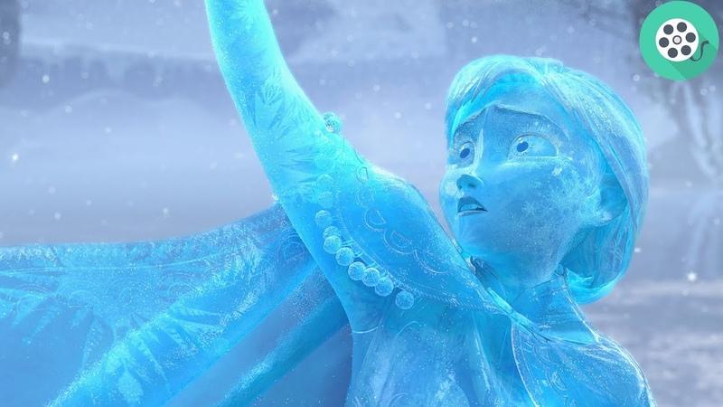 Анна спасает Эльзу и превращется в ледяную статую. Холодное сердце (2013) год.