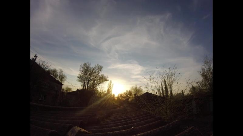 TimeLapse (Красивый закат) 3 часа за 1 минуту