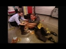 WWE No Mercy 2006 - William Regal searched for Fit Finlay but found Big Vito and tripped and got food all over himself