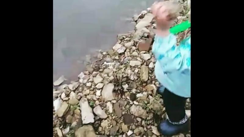 Лев и горная речка)