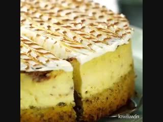 Невероятно ароматный чизкейк с корицей на ореховой основе _ Больше рецептов в гр