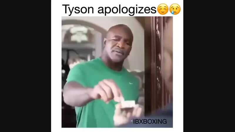 Майк Тайсон пришел извиняться к Эвандеру Холифилду за откушенное ухо.