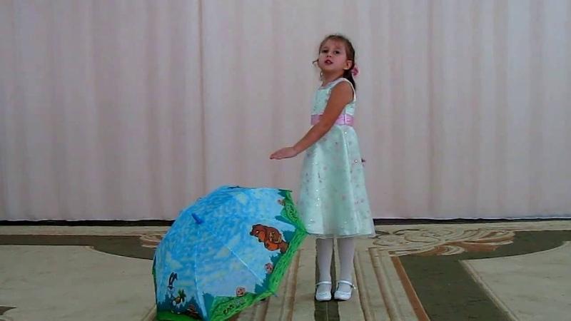 Фёдорова Анастасия, 6 лет пение Осень золотая в гости к нам идет г. Тихорецк, 30.09.2016.