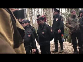 Война на Шиесе против полиции и наемной охраны
