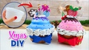DIY projects for Christmas and winter for a frozen room decor - Cake boxes with recycled tubs