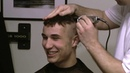 Thomas full length head shave video