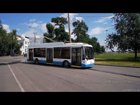 Троллейбус 38 Шарикоподшипниковская улица - Ветеринарная академия 12 июля 2018