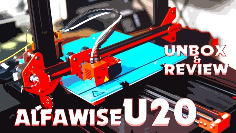 Alfawise U20 Large Scale 2.8 inch Touch Screen 3D Printer Unbox Review!