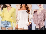 Blusas bonitas y elegantes MODA 2919
