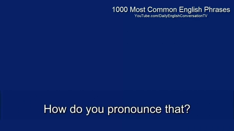 1000 Most Common English Phrases - Learn English Phrases