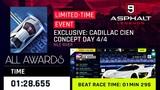 Asphalt 9 - Cadillac Cien Concept DAY 44 - P