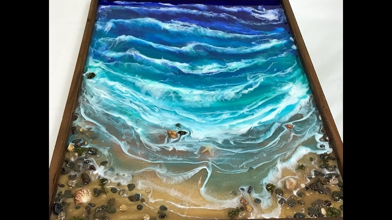 66 - Healing Power of the Ocean - Resin Art - Connection to the past.