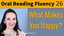 Oral Reading Fluency 26 The Human Experience English Vocabulary Pronunciation
