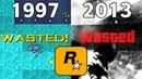 Evolution Of Wasted in GTA Games 1997 - 2013