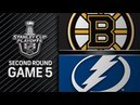 NHL 18 PS4. 2018 STANLEY CUP PLAYOFFS SECOND ROUND GAME 5: EAST BRUINS VS LIGHTNING. 05.06.2018. (NBCSN) !