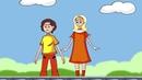 Как вести себя рядом с железной дорогой ПДД для детей и взрослых Развивающий мультик HD
