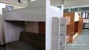 Кровать 2-х ярусная с диваном- книжкой Ричи (Ясень шимо/Флок (цвет условный)