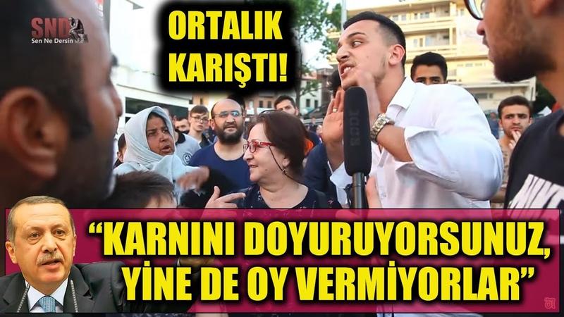 Erdoğan Karnını doyuruyorsunuz yine de oy vermiyorlar dedi vatandaş birbirine girdi