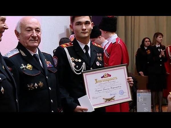 Здоровые амбиции: школа в Ленинградском районе получила знамя «Лучшая казачья школа»