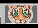 Процесс рисования тигрёнка Rimma Fox