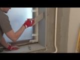 Как сделать тёплые и красивые откосы с применением фрезерованного экструзионного пенополистирола. Пошаговая технология.