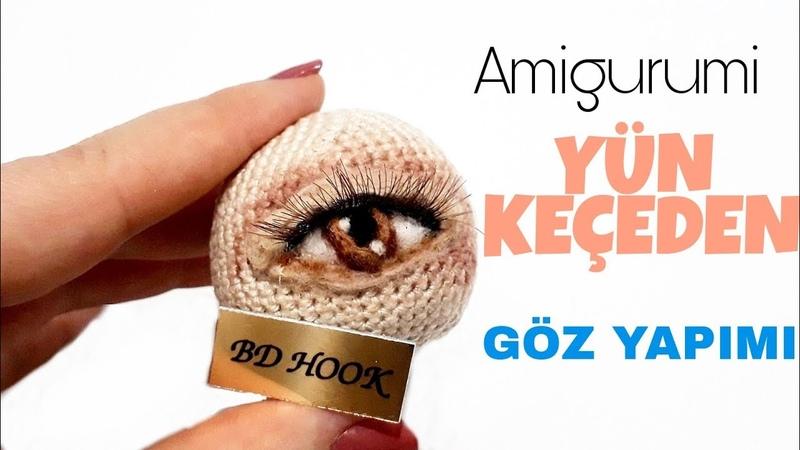 Amigurumi Yün Keçeden Göz Yapımı Needle Felting Eyes On Amigurumi