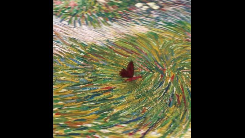 Qualcosa di molto vivo - Coin de jardin avec papillons di Van Gogh