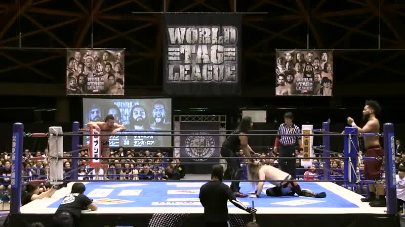 [My1] NJPW World Tag League 2018 (День 3) - David Finlay Juice Robinson vs. Guerrillas Of Destiny (Tama Tonga Tanga Loa)