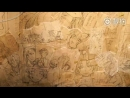 The wall with sketches by Mochizuki Jun in PandoraHearts x ヴァニタスの手記 Collaboration Cafe