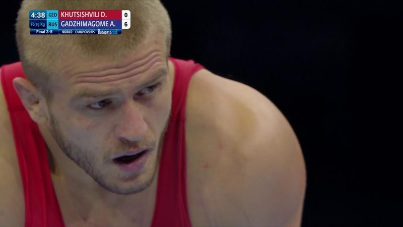 ЧМ 2018 Бронза - 79 кг: Ахмед Гаджимагомедов (Россия) vs Давит Хуцишвили (Грузия)