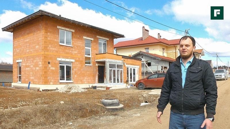Уютный дом из керамики своими силами гараж с остеклением и плоская кровля FORUMHOUSE