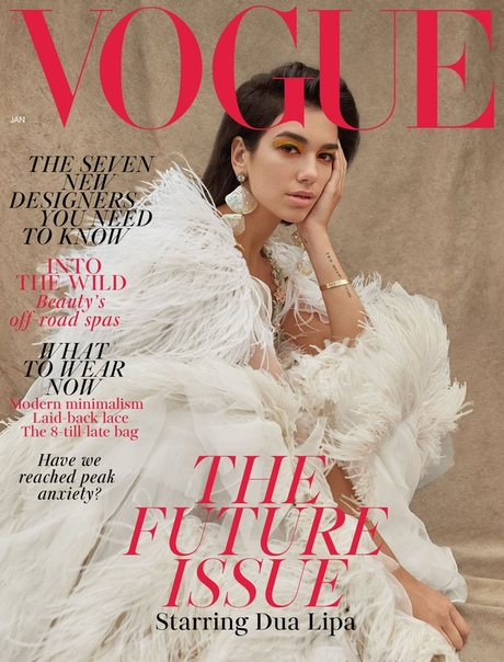 DUA LIPA Vogue Magazine, UK 01/2019