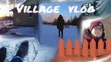 Vlog | Прямиком из деревни/Чуть не провалился под лёд/Адская тишина в лесу/Прошли всю речку по льду.