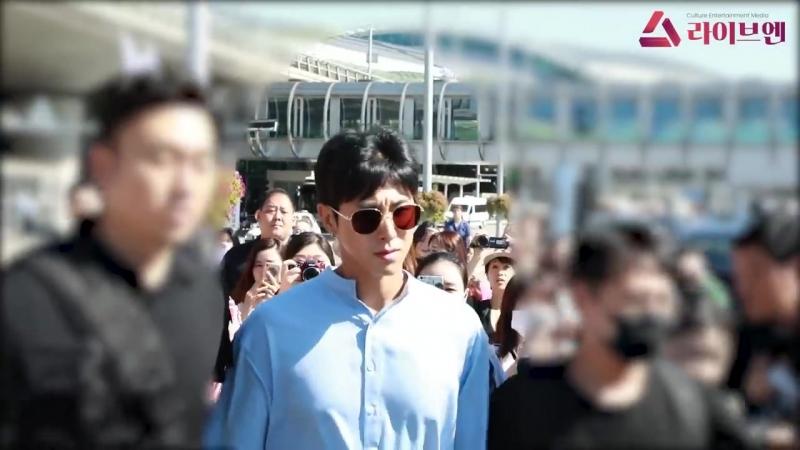 18 08 2018 Юнхо в аэропорту Инчхон TVXQ вернулись в Корею