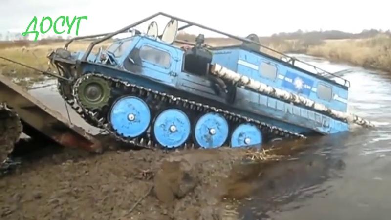 Амфибии на реке чтото не спокойно Авто выносят бездорожье 4х4 не сдаётся Профессионалы 21