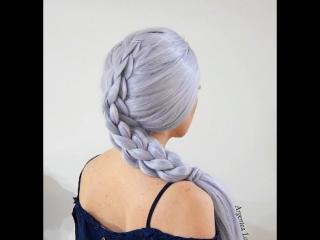 Схема плетения 3d косы
