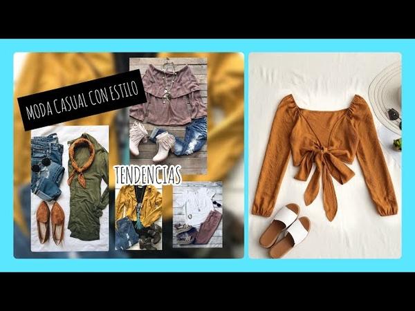 MODA CASUAL CON ESTILO/CÓMODA PERO ELEGANTE/ outfits 2018 2019