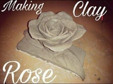 How to make a clay rose flower tutorial-easy clay modeling for kids-clay flower by Pawan Verma