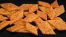 ГЕНИАЛЬНАЯ ЗАКУСКА ПОД ФУТБОЛ сырные крекеры к Пиву Cheese Cracker Recipe