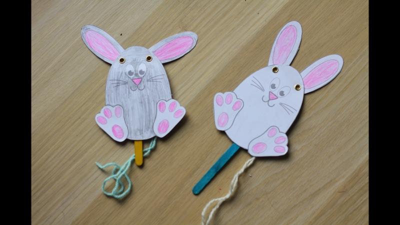 Кролик с подвижными ушками
