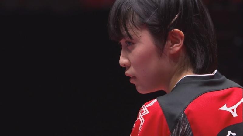 世界卓球2018 女子決勝トーナメント準々決勝 日本vsウクライナ 第3試合 平野32