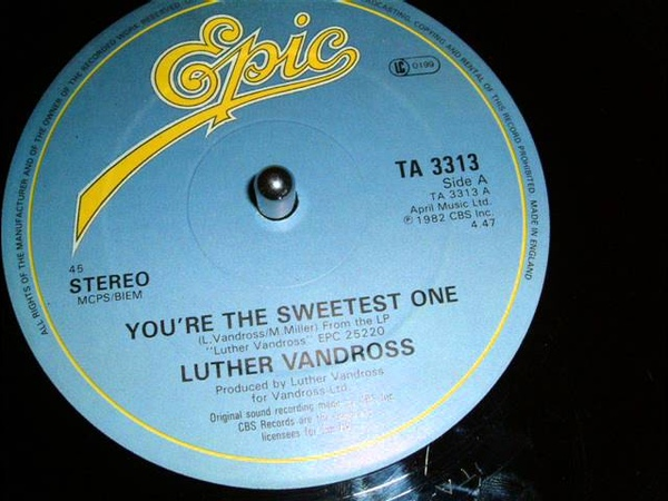 LUTHER VANDROSS - YOU'RE THE SWEETEST ONE 12 INCH