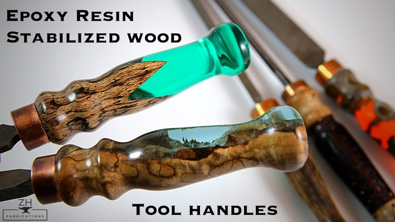 Epoxy resin stabilized wood tool handles