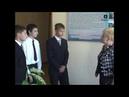Тамбов. Лира. Открытие стенда П.К. Яценко проводит директор лицея № 28 Т.В. Бетина