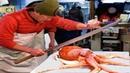 Япония Морепродукты - Гигантский Осминог Окинава Япония