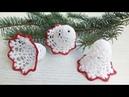 Campana navideña amigurumi tejida a crochet (amigurumi christmas bell)