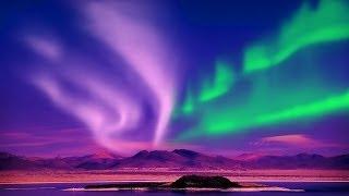 Relax Music Stunning Aurora Borealis - Northern Polar Lights - 2 Hours - HD 1080P
