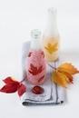 Осенняя ваза из бутылки